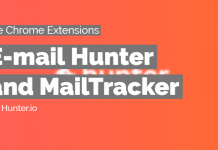 e-mail hunter and mail tracker chrome extension