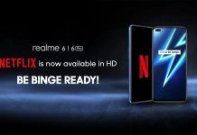 Realme 6 Netflix HD Support