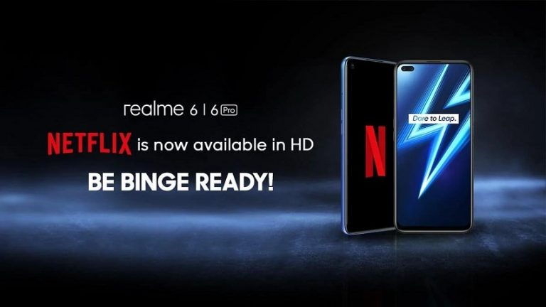 Realme 6, Realme 6 Pro Get Netflix HD Streaming Support