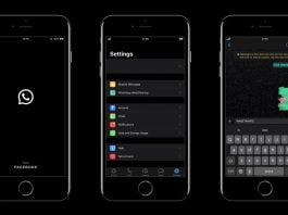 Whatsapp dark mode on Android and iOS