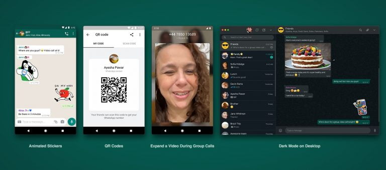 WhatsApp add Animated Stickers, QR Code and Dark Mode for Web
