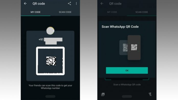 add WhatsApp contacts via qr code, dark mode whatsapp, whatsapp, whatsapp web