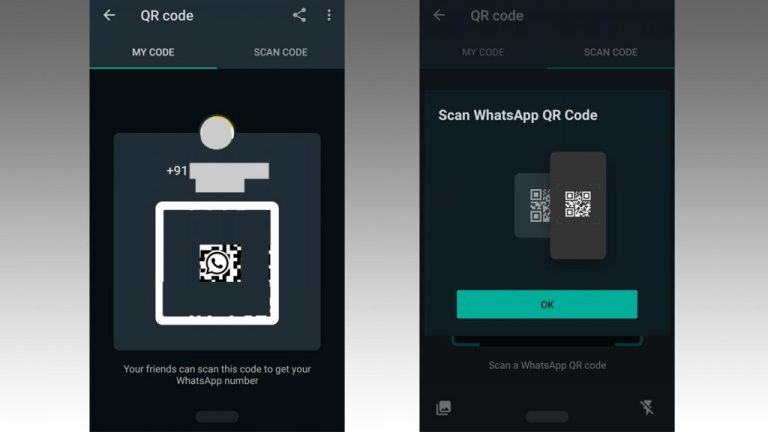 WhatsApp Add contact via QR Code feature in Android