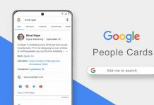 Google People search card
