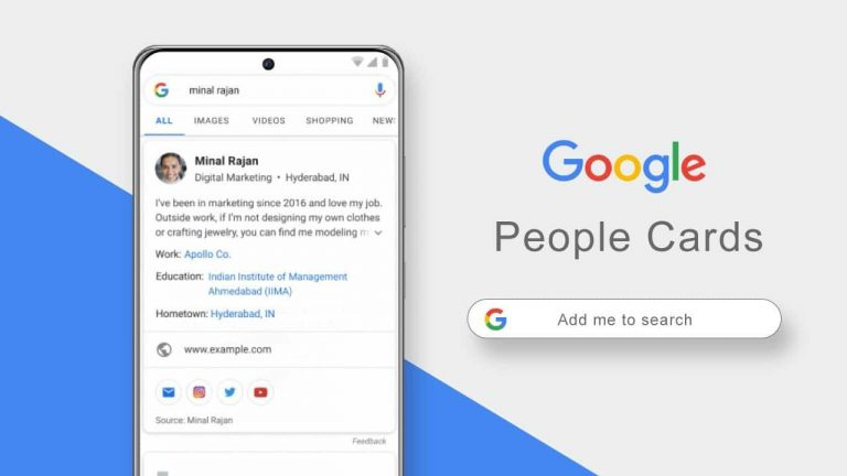 "Google India rolls out ""Add me to Search"" feature to create People cards"