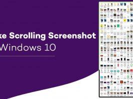 Capture Scrolling Screenshot on Windows 10