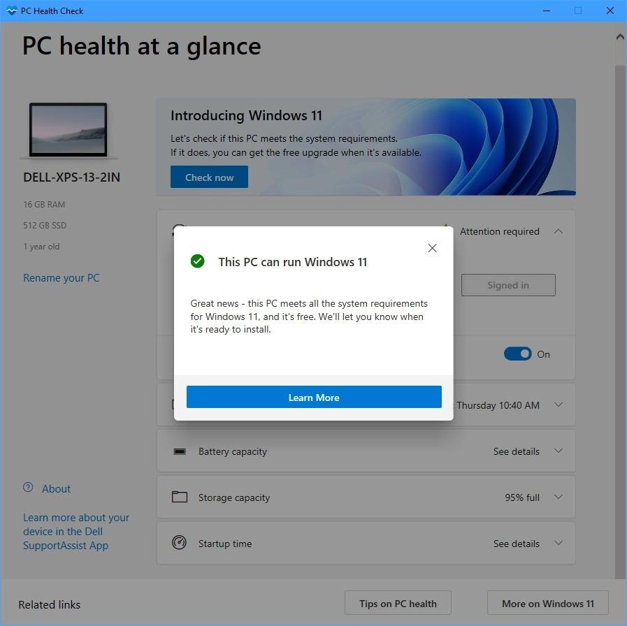 Windows 11 compatbility check